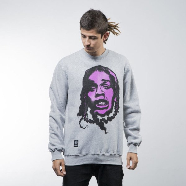 Mass Denim bluza sweatshirt Harlem Legend crewneck light heather grey