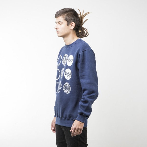 Mass Denim bluza sweatshirt Mind crewneck navy