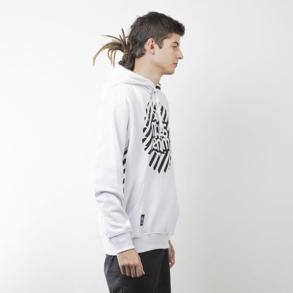 Mass Denim bluza sweatshirt Stripes Logo hoody white