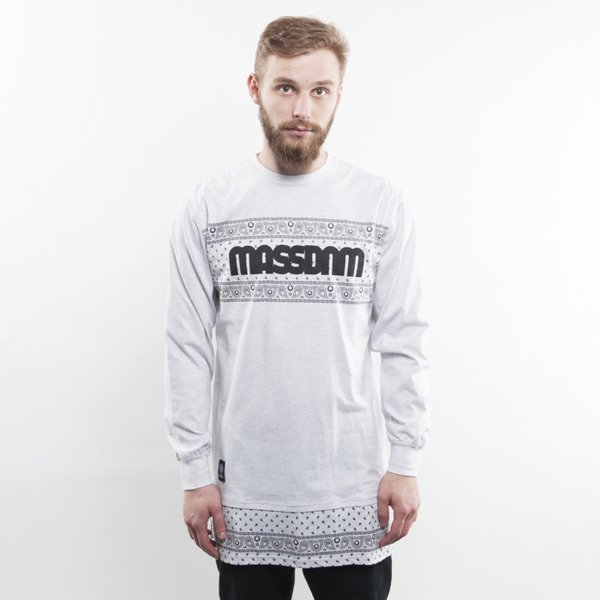 Mass Denim koszulka longsleeve Compton long fit light heather grey