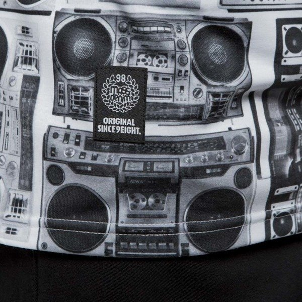 Mass Denim koszulka t-shirt Ghettoblaster white SS 2017
