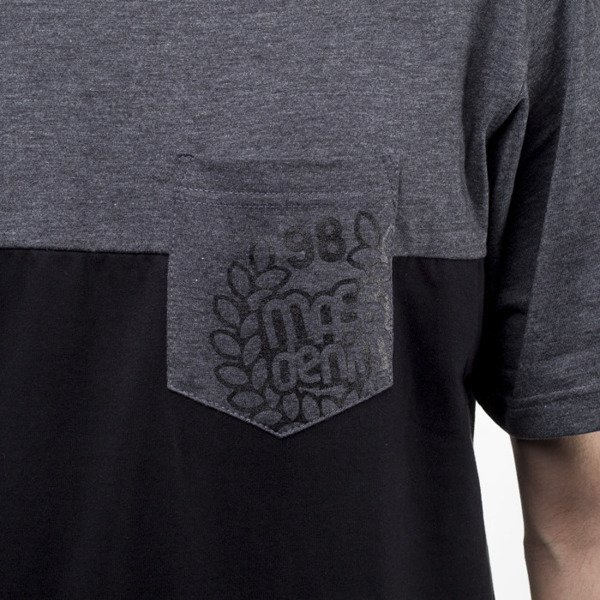 Mass Denim koszulka t-shirt Pocket Base black / dark heather grey