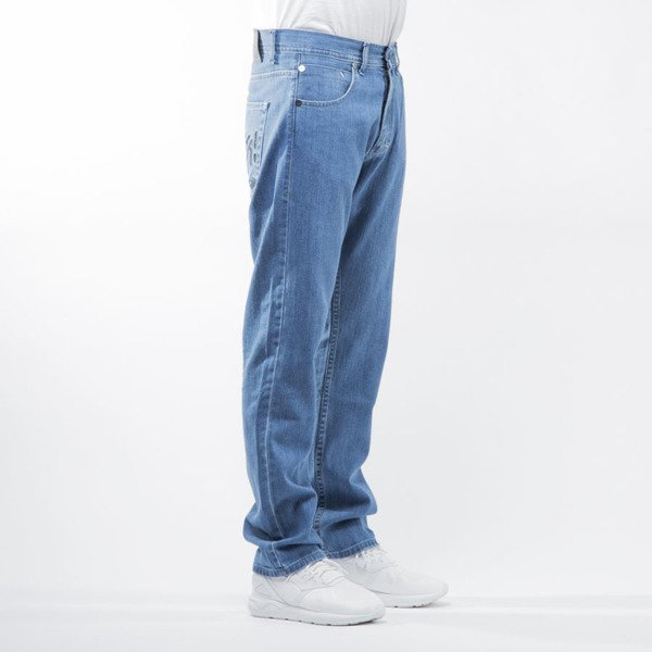 Mass Denim spodnie jeans Stamp regular fit light blue