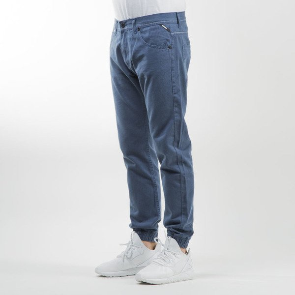 Mass Denim spodnie jogger pants Signature sneaker fit blue stone