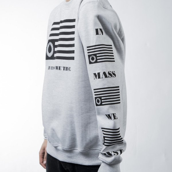 Mass Denim sweatshirt bluza Empire crewneck white BLAKK
