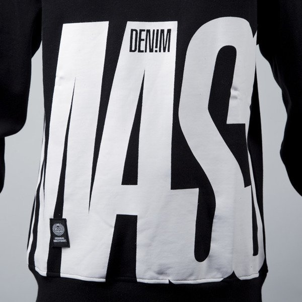 Mass Denim sweatshirt bluza Outsized crewneck black