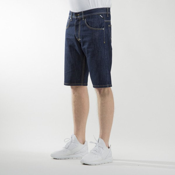 Mass Denim szorty shorts jeans Dope straight fit rinse