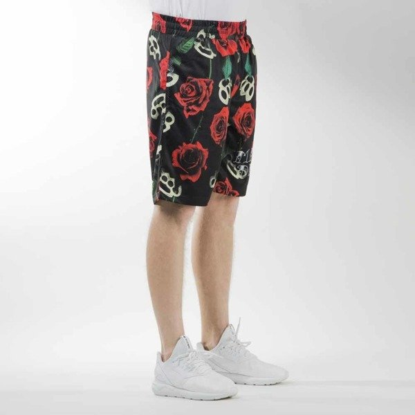Mass Denim szorty sportshorts Brass' N' Roses mesh black
