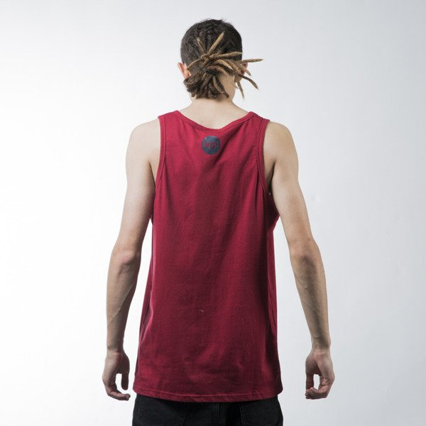 Mass Denim tank top koszulka Signature claret