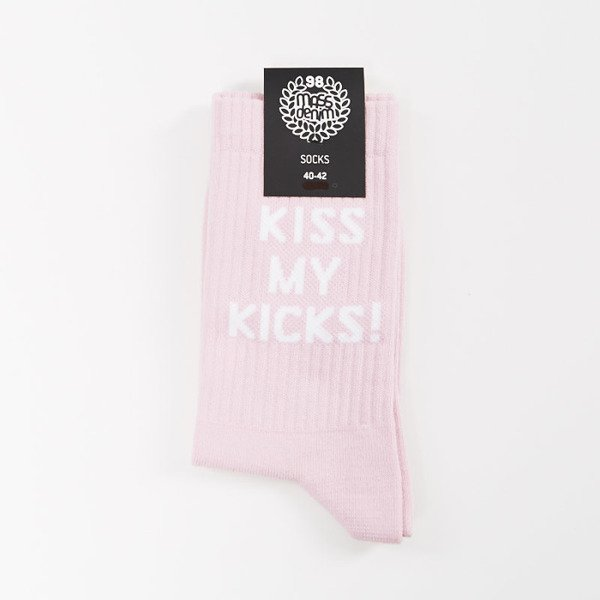 Skarpety Mass Denim socks Kiss Quarter pink SS 2017