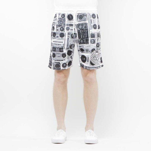 Szorty Mass Denim Shorts Mesh Ghettoblaster white SS 2017