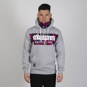Mass DNM bluza Sweatshirt Camo Stripe Hoody - light heather grey