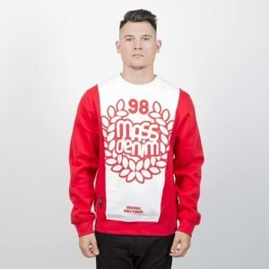 Mass DNM bluza Sweatshirt Crewneck False Start - red / white
