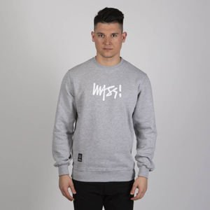 Mass DNM bluza Sweatshirt Crewneck Signature Medium Logo - light heather grey SS19