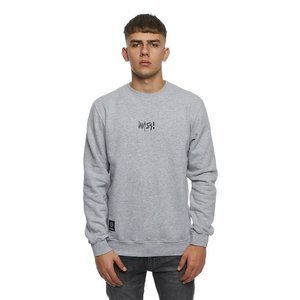 Mass DNM bluza Sweatshirt Crewneck Signature Small Logo - light heather grey