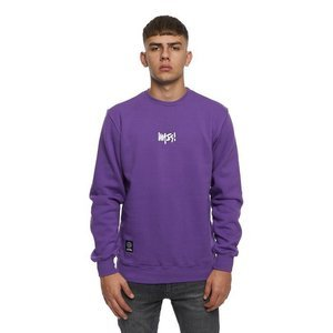 Mass DNM bluza Sweatshirt Crewneck Signature Small Logo - purple