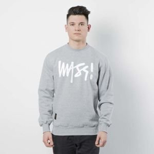 Mass DNM bluza Sweatshirt Crewneck Signature - light heather grey