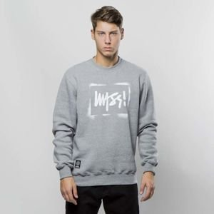 Mass DNM bluza Sweatshirt Crewneck Street Sign - medium heather grey