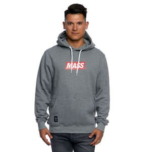 Mass DNM bluza Sweatshirt Hoody Big Box Medium Logo - light heather grey