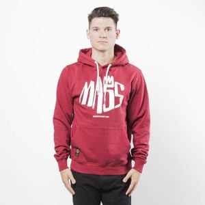 Mass DNM bluza Sweatshirt Hoody Crown - claret