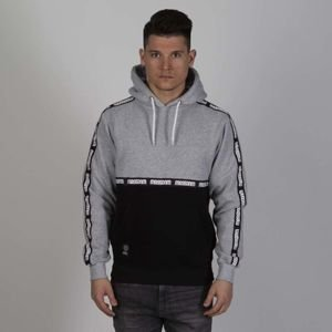 Mass DNM bluza Sweatshirt Line Hoody - black / light heather grey
