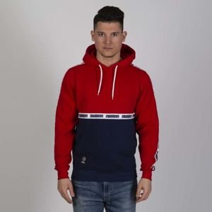 Mass DNM bluza Sweatshirt Line Hoody - navy / red
