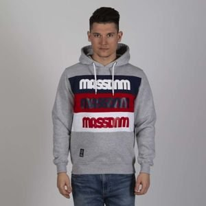 Mass DNM bluza Sweatshirt Separate Hoody - light heather grey