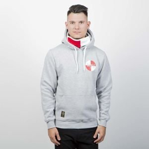 Mass DNM bluza Sweatshirt Signature Flag Hoody - light heather grey