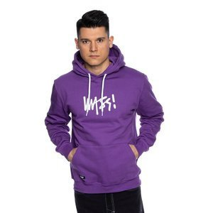 Mass DNM bluza Sweatshirt Signature Medium Logo Hoody - fioletowa
