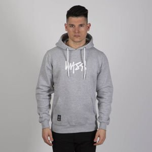 Mass DNM bluza Sweatshirt Signature Medium Logo Hoody - light heather grey