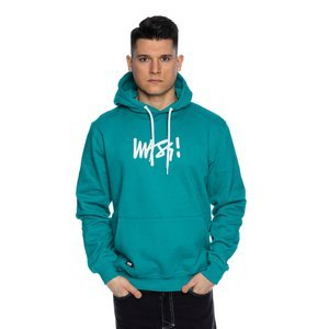 Mass DNM bluza Sweatshirt Signature Medium Logo Hoody - turkusowa