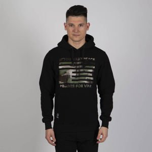 Mass DNM bluza Sweatshirt War & Peace Hoody - black