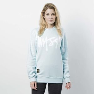 Mass DNM damska bluza Sweatshirt Crewneck Signature WMNS - light blue