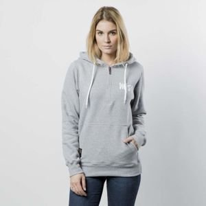 Mass DNM damska bluza Sweatshirt Hoody Half Zip Signature WMNS - light heather grey
