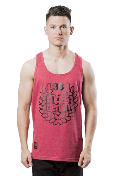 Mass DNM koszulka Base Tank Top - heather claret