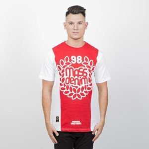 Mass DNM koszulka False Start T-shirt - white / red