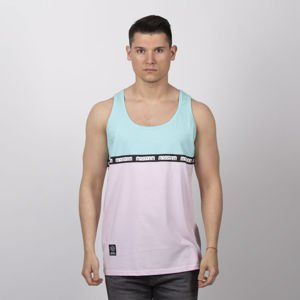 Mass DNM koszulka Line Tank Top - mint / light pink