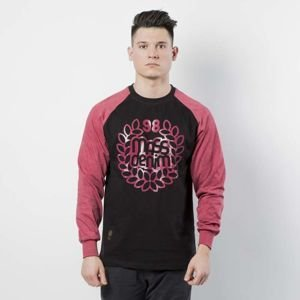 Mass DNM koszulka Longsleeve Base Reglan - black / heather claret