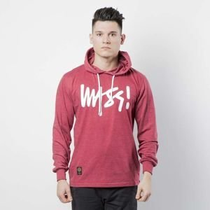Mass DNM koszulka Longsleeve Hoody Signature - heather claret