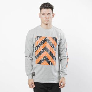 Mass DNM koszulka Longsleeve One Way System - light heather grey