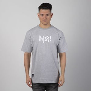 Mass DNM koszulka Signature Medium Logo light heather grey