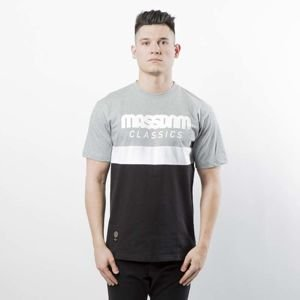 Mass DNM koszulka T-shirt Respect - light heather grey / black