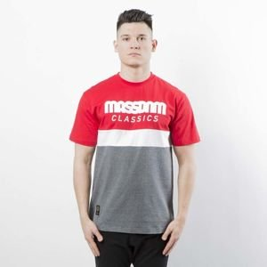 Mass DNM koszulka T-shirt Respect - red / dark heather grey