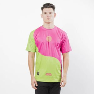 Mass DNM koszulka Ying T-shirt -  toxic yellow / toxic red