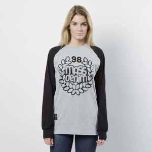 Mass DNM koszulka damska Longsleeve Base Reglan WMNS - light heather grey / black