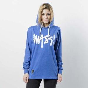 Mass DNM koszulka damska Longsleeve Hoody Signature WMNS - heather blue