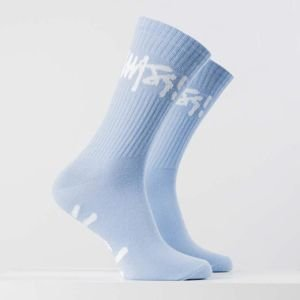 Mass DNM skarpety Socks  Signature - light blue