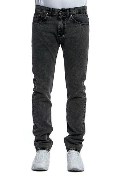 Mass DNM spodnie Dope Jeans Tapered Fit black stone washed