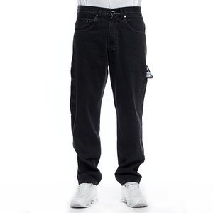 Mass DNM spodnie Jeans Work Baggy Fit - black rinse
