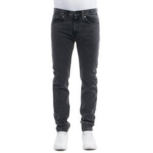 Mass DNM spodnie Signature Jeans Tapered Fit black stone washed